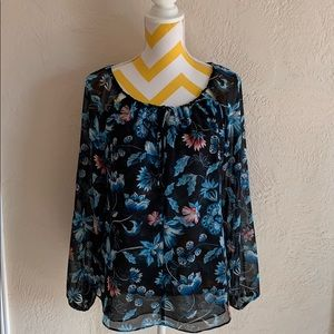 WHBM beautiful long sleeve blouse